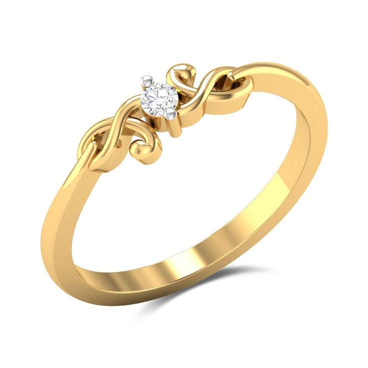 Kafleen Diamond Studded Gold Ring