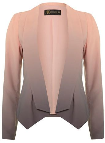 Kardashian Kollection ombre printed jacket