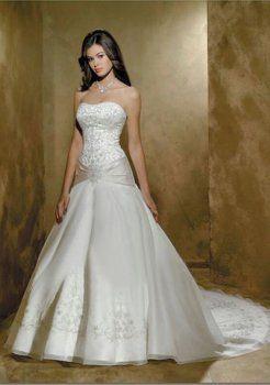 Sirena de un hombro capilla tren vestidos de satén de novia
