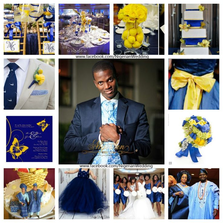 Wedding Color Schemes Colors Colour Nigerian Weddings Blue Yellow Palettes Combinations