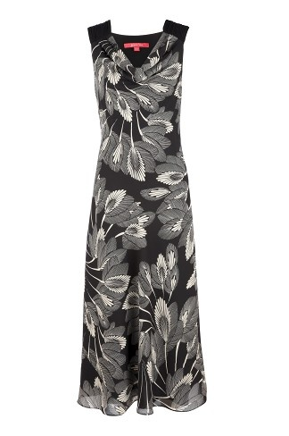Peacock Palm Print Dress, perfect for your next special occasion.