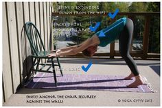 Beginner Downward Dog for those with tight hamstrings