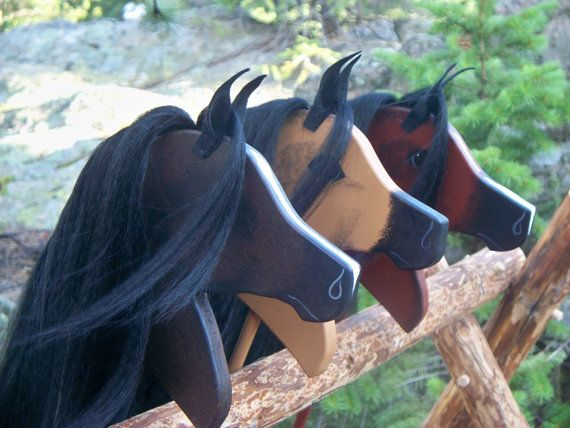 Arabian-Stick-Horse-at-MJM-Ranch  Beautiful artisan stick horses.  Little man would love this!