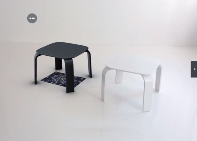 Bento Table - Virtual object vs. Real object
