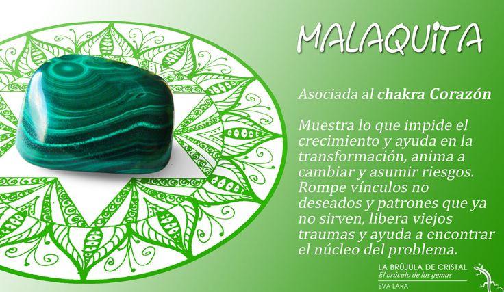 Malaquita. Chakra Corazón.  #labrujuladecristal