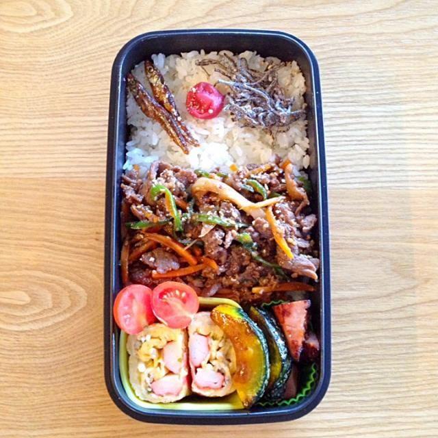 おはようございます(^o^)/ 今朝は、コストコプルコギのお裾分けで簡単手抜き〜 今日は、急ぎま〜す - 79件のもぐもぐ - プルコギ丼*弁当♪ by hiromi