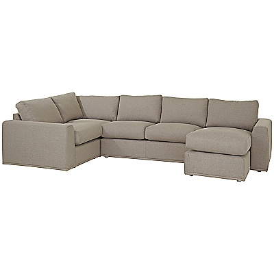 Buy House by John Lewis Finlay Grand Corner Chaise End Unit, Clay online at JohnLewis.com - John Lewis