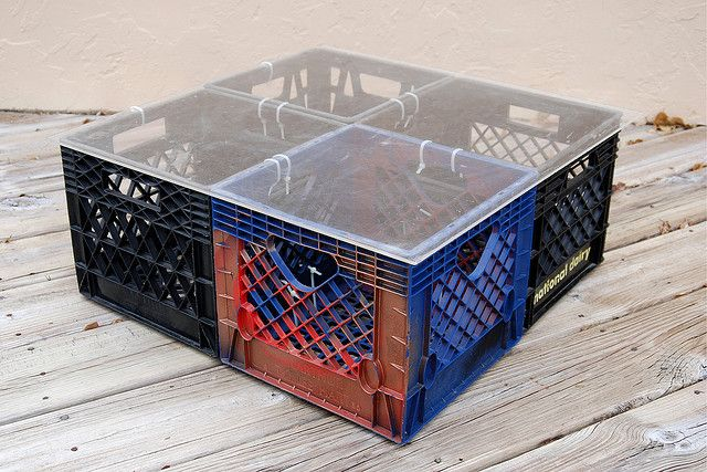 17 best images about plastic milk crates reuse on pinterest for Milk crate crafts