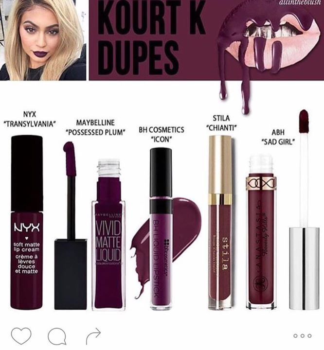 Kylie Lip Kit Kourt K Dupes I already own NYX Transylvania, so that's good to Know - LoveMsB.