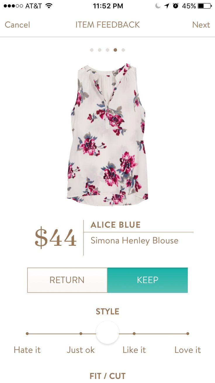 Alice Blue Simona Henley Blouse