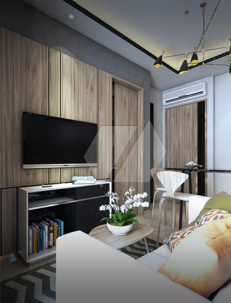 Inspirasi ruang keluarga dengan sentuhan furnitur kayu | Portofolio By : Dimas Daforza (Interior Designer di Sejasa.com)
