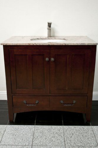 36 solid wood cherry vanity cabinet by koville Solid wood bathroom vanities cabinets