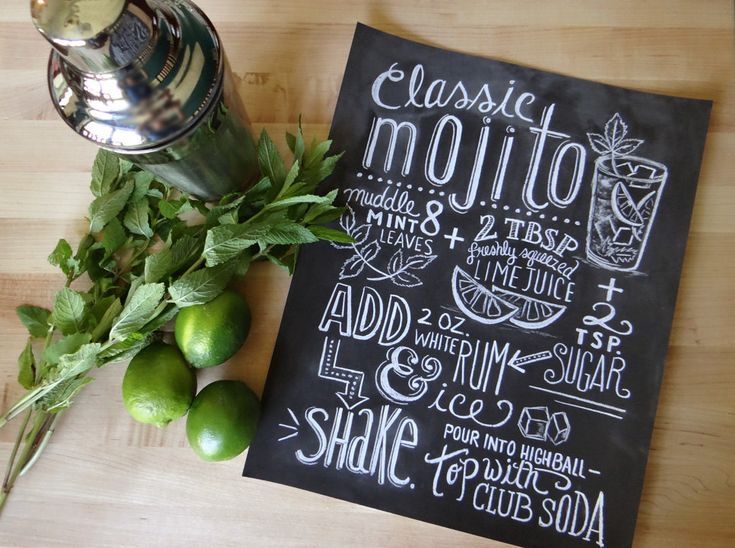 Mood Board Monday {Typography} Mojito recipe typography chalkboard print