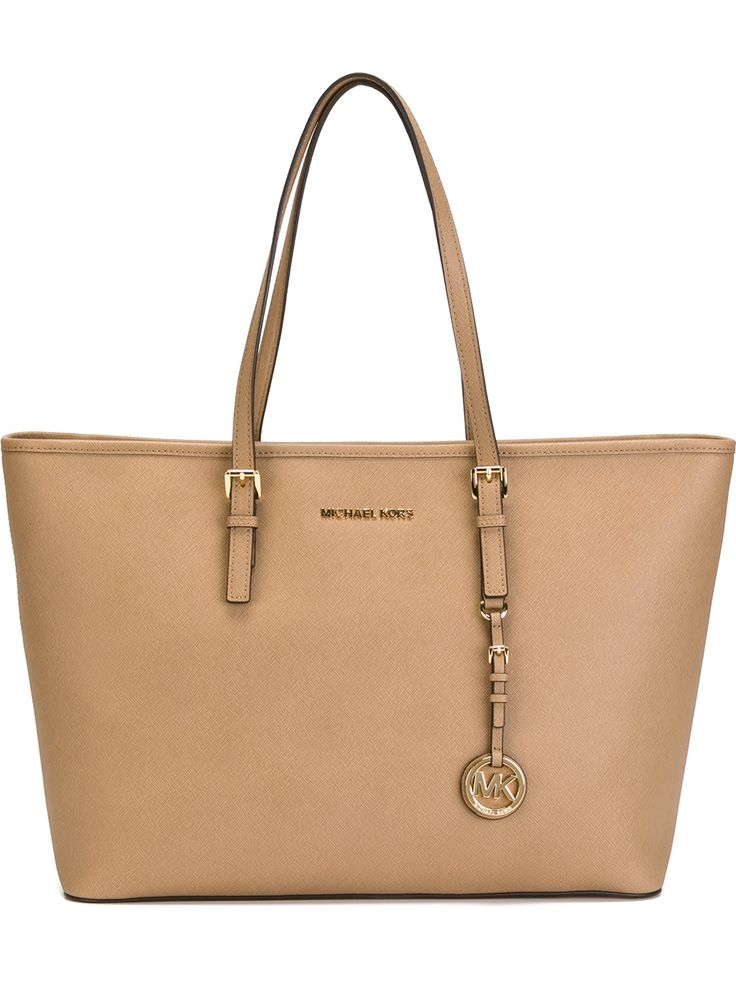 マイケル コース(MICHAEL KORS)トート MICHAEL KORS NUDE LEATHER 'JET SET TRAVEL' TOTE