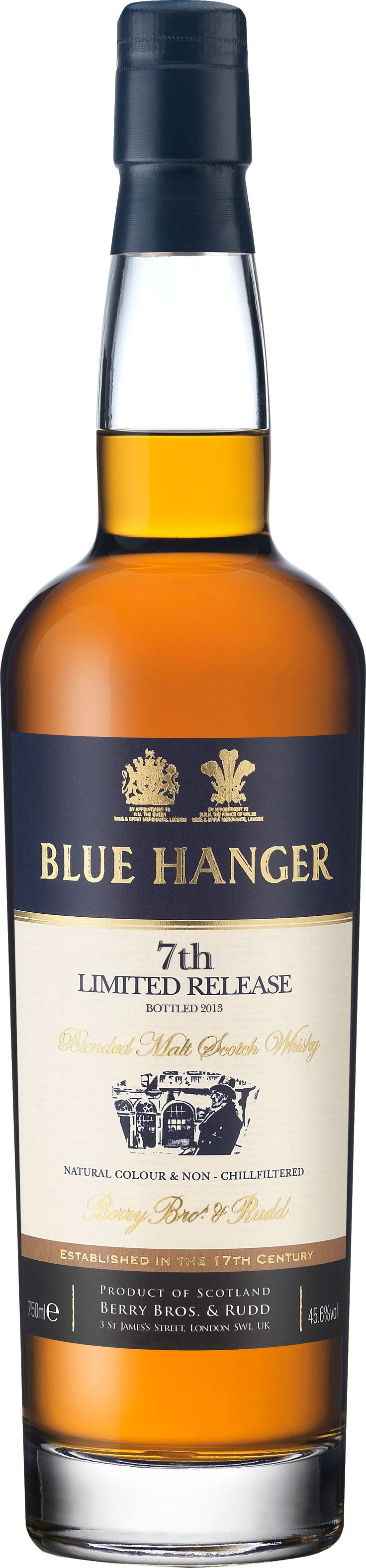"Blue Hanger Blended Malt Scotch Whisky 7th Limited Release.  A limited release of just 3,088 bottles, this malt #Scotch whisky earned a score of 92 points from #Whisky Advocate, which called it a ""success story"" and ""excellent."" 
