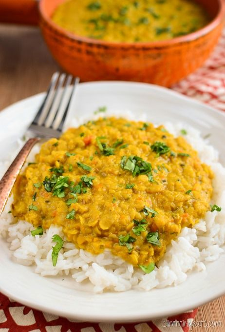 Slimming Eats Lentil Curry - gluten free, dairy free, vegetarian, Slimming World (SP) and Weight Watchers friendly
