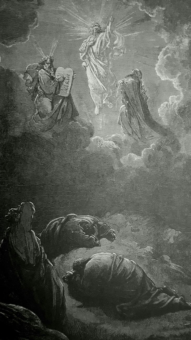 Phillip Medhurst presents detail 170/241 Gustave Doré Bible The Transfiguration Matthew 17:2-3