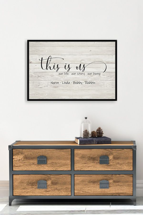 This Is Us Sign Entryway Wall Art Our Life Our Story Our Home Entryway Wall Decor Chalkboard Wall Decor Unique Wall Decor