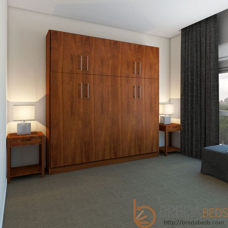 horizontal urban murphy bed with a top hutch by bredabeds this murphy bed offers a