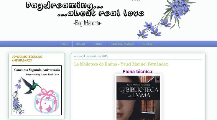 """""""La historia te atrapa y te suelta, pero no en el sentido de aburrirte, sino en el sentido de dejarte con ganas de más, pero el protagonista cuenta la historia a su ritmo y te deja en ascuas más de una vez."""" - Reseña en el blog Daydreaming About Real Love: http://daydreamingaboutrealove.blogspot.com.es/2015/08/la-biblioteca-de-emma-yauci-manuel.html?spref=fb"""
