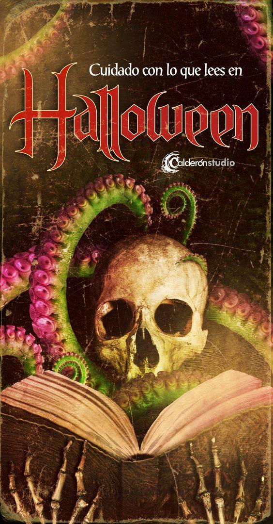"""""""Cuidado con lo que lees en Halloween"""" Ilustración promocional Halloween 2015"""