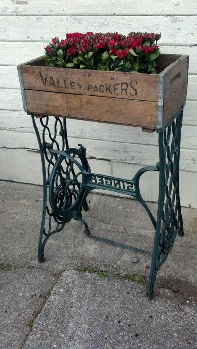 Re-purpose an old sewing machine bottom