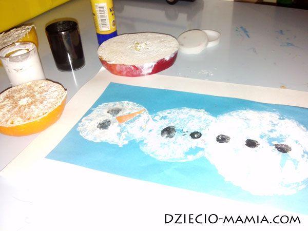 citrus snowman