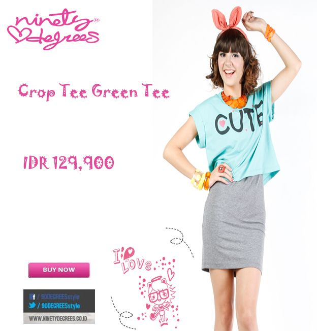 This Crop Tee is Cute girls IDR 129,900 >> http://ow.ly/vn3vp