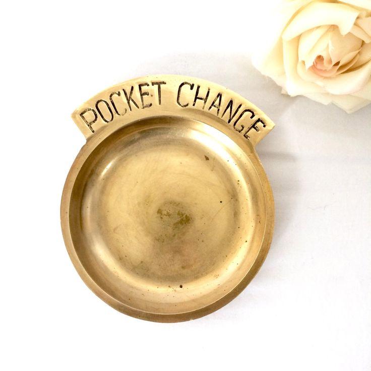 Brass Pocket Change Dish by EllasAtticVintage on Etsy
