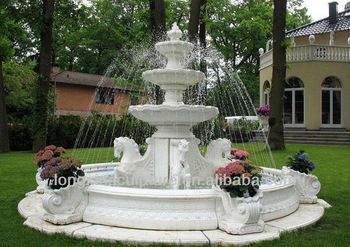 Stone Sculpture Marble Fountains Park Decor Horse Water Fountains