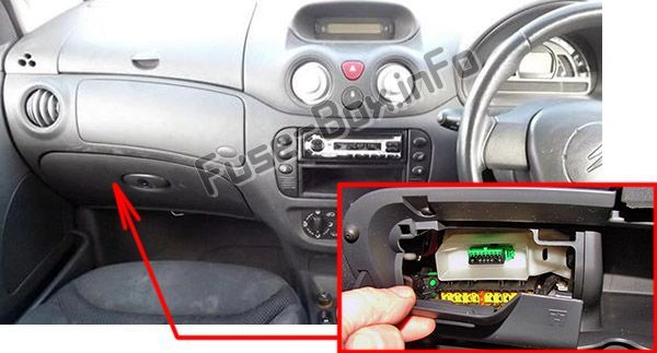 Citroën C3 (2002-2008) < Fuse Box location | Electrical fuse ... on 1998 f150 fuse location, red box location, fuse entertainment, air filter box location, fuse cross reference chart, fuse panel, fuse box layout, toyota fuse location, fuse types, fuse box home, 2003 impala heater box location, fuse tap, fuse comparison chart, fuse sizes chart, fuse selection chart,