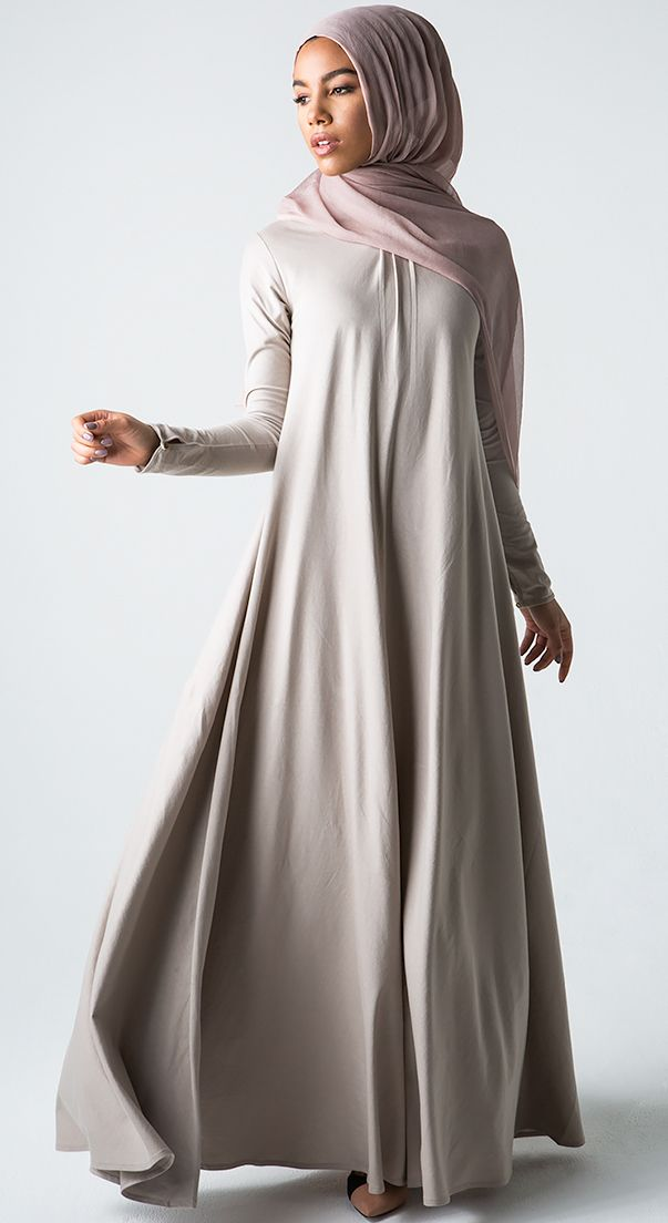 Shape Up: Empire waist flatters in  this no-color abaya