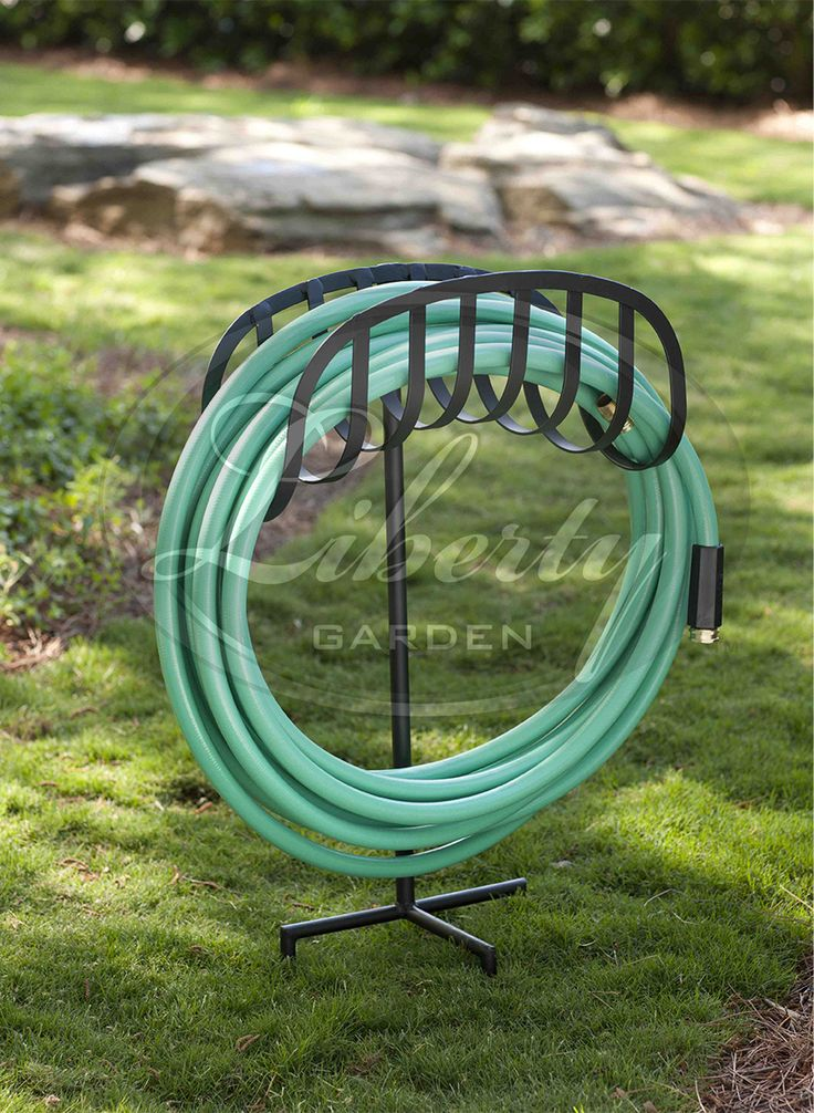 The 3 Prong #LibertyGarden Model 647 #decorative #hose Stand Keeps Your Hose  Neatly