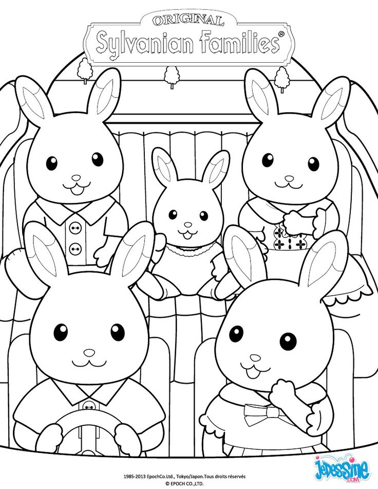 calico critters coloring pages printable - photo#32