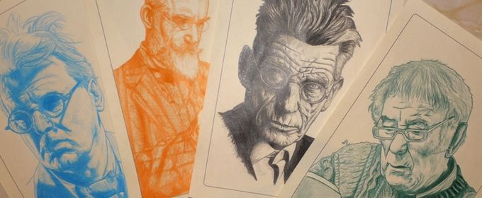 Limited edition fine art portrait prints celebrating W. B. Yeats, George Bernard Shaw, Samuel Beckett, and Seamus Heaney