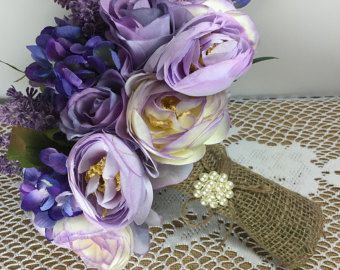 Flores de la boda morado intenso púrpura boda por FlowerDecoration