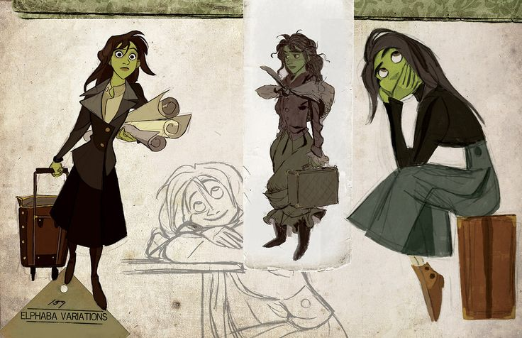 WICKED Imagined as a Disney Animated Film - Character Art — GeekTyrant
