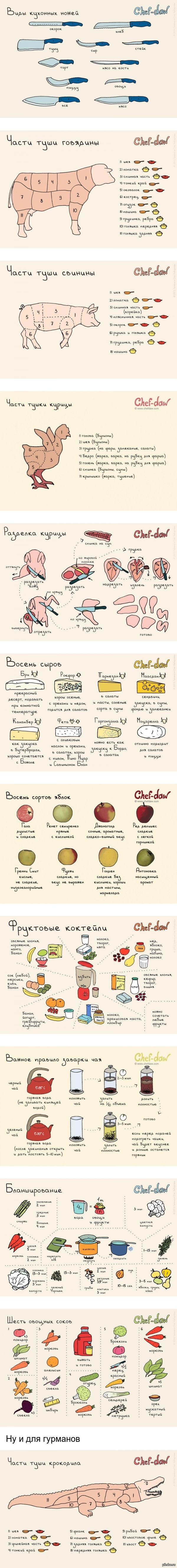 Шпаргалки для кухни Для любителей готовить