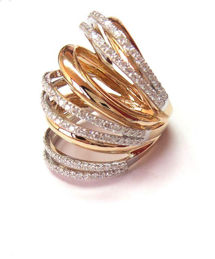 Brand new design... Diamonds and 18 ct gold By Hala x