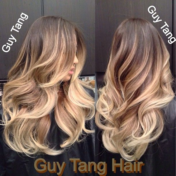 Ombre Hair - Hair color creates movement and contours the shape of the haircut, it add texture, body, and fullness! I use color to make your eyes travel through the design with my signature layered haircuts. Just like how make up enhances the features on the face! Hair color does that for the hair!