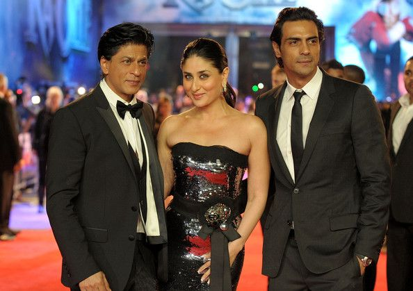 "Shahrukh Khan, Kareena Kapoor and Arjun Rampal - The UK Premiere of ""Ra.One"" at Cineworld O2 Arena in Greenwich. Source: Bauer Griffin"
