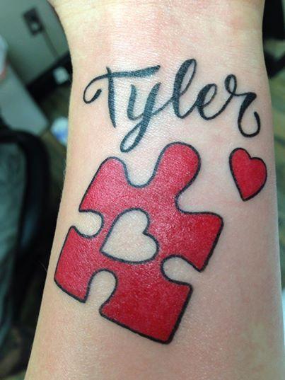 370 besten tattoos autism related bilder auf pinterest for Autism tattoos for dads