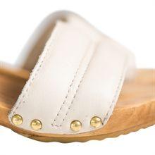 Lola wooden sandal - champagne