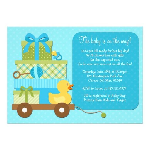 323 best images about Duck Baby Shower Invitations on Pinterest