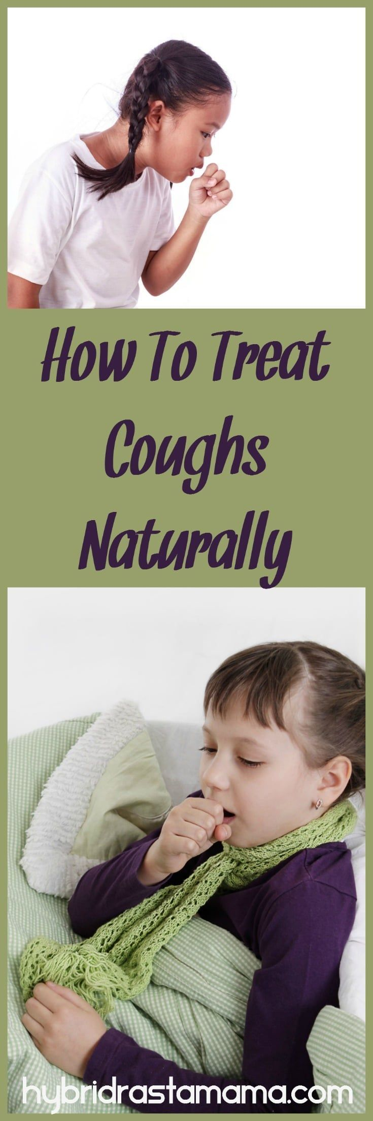 Coughing is rough on the body but it means that your body is doing its job. Learn how to treat coughs naturally and gently using herbs from HybridRastaMama.com.