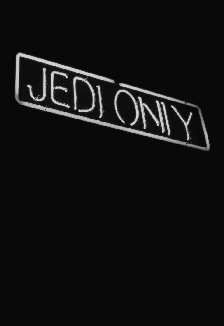Neon Jedi sign