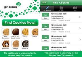 Girl Scout Cookie finder app FTW!