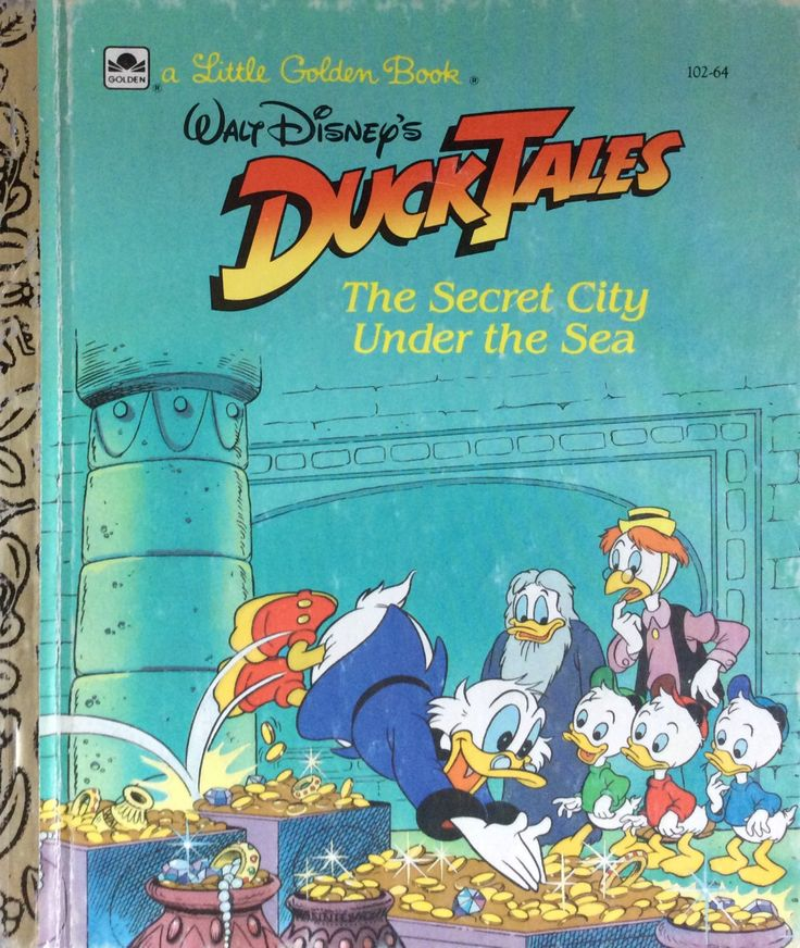 Duck Tales The Secret City Under The Sea Little Golden Book by Lonestarblondie on Etsy