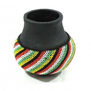 Beaded Ndebele Calabash...unique vase