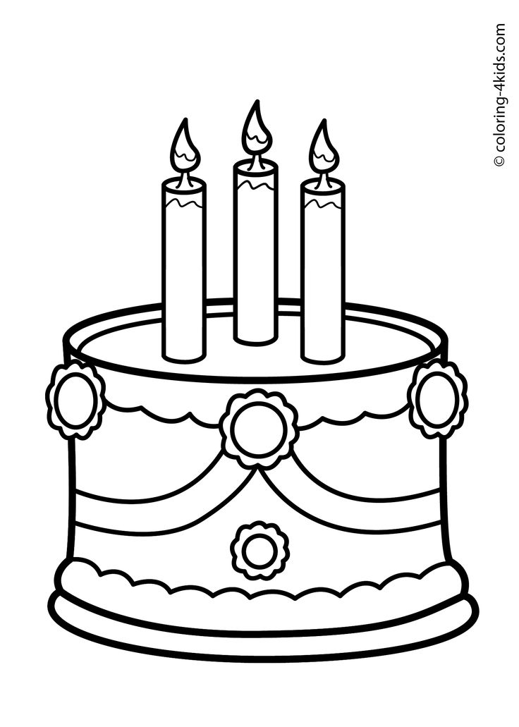 Cake Birthday Party Coloring Pages